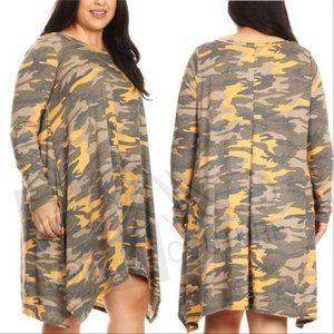 CURVY Camo Print Dress